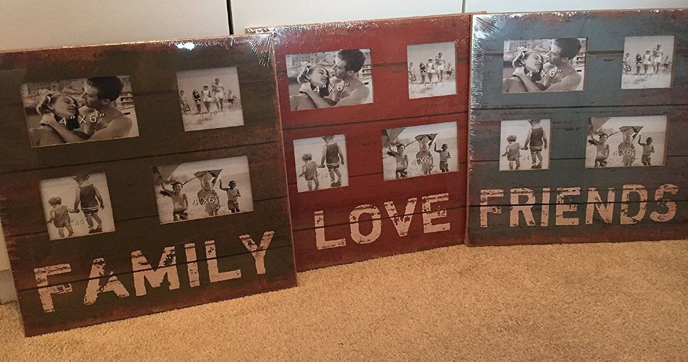 Collage Wood Photo Frame FRIENDS FAMILY LOVE